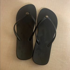 Size 8 tory burch sandals black